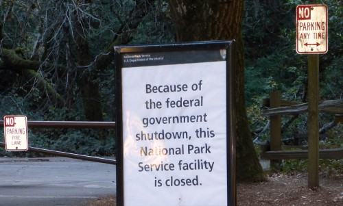 No, America! NO Muir Woods for YOU. You've had enough already.